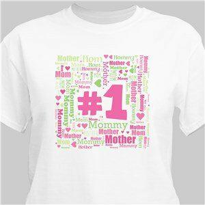 1 Mom Word-Art T-Shirt