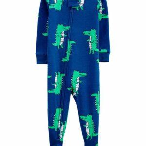 1-Piece Alligator 100% Snug Fit Cotton Footie PJs