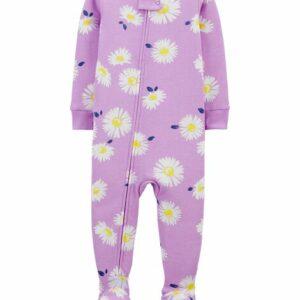 1-Piece Daisy 100% Snug Fit Cotton Footie PJs