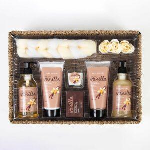 10 Piece Vanilla Delights Spa Gift Basket by GiftBasket.com