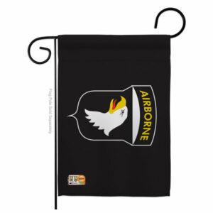 101st. Airborne Americana Military Garden Flag