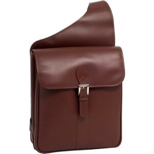 14 Leather Vertical Messenger Bag