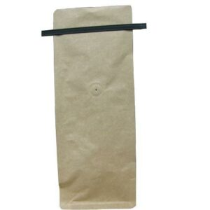 16 Ounce Square Bottom Foil Lined Coffee Bags with Tin Ties and Valve - TAN KRAFT, 500 Count Box