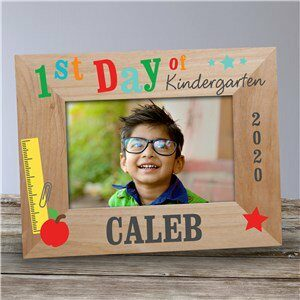1st Day of School Wood Personalized Frame