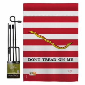 1st. U.S. Navy Jack Americana Historic Garden Flag Set