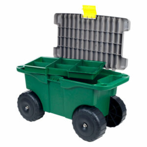 """20"""" Plastic Garden Storage Cart and Scooter by Pure Garden"""