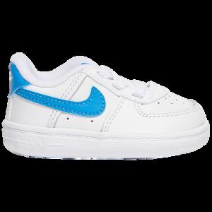 20th Century Fox Boys Nike Air Force One Crib - Boys' Infant Shoes White/Light Photo Blue/White Size 03.0