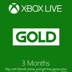 3-Month Xbox Live Gold Membership (Digital Code)