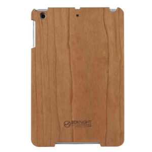 3D Knight Real Wood Protector Case for Apple iPad Mini (Cherry Wood/Mix Wood with Black Polycarbonate)
