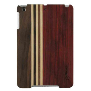 3D Knight Real Wood Protector Case for Apple iPad Mini (Rosewood/Mix Wood with Black Polycarbonate)