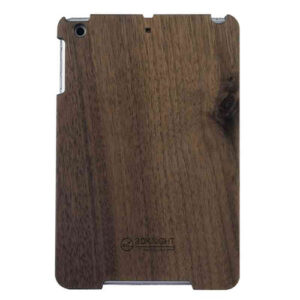 3D Knight Real Wood Protector Case for Apple iPad Mini (Walnut Wood with Black Polycarbonate)
