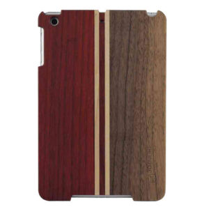 3D Knight Real Wood Protector Case for Apple iPad Mini (Walnut Wood/Mix Wood with Black Polycarbonate)