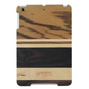 3D Knight Real Wood Protector Case for Apple iPad Mini (Zebra Wood/Mix Wood with Black Polycarbonate)