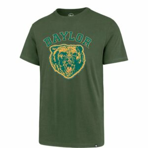 '47 Baylor University Knockout Fieldhouse T-Shirt Bottle Green/Mustard, Small - NCAA Men's Tops at Academy Sports