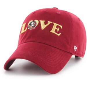 '47 Florida State University Women's Love Cap Dark Red - NCAA Women's Caps at Academy Sports