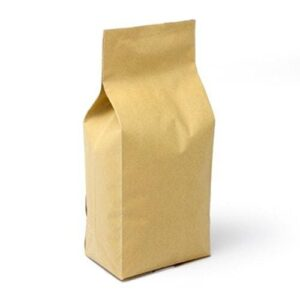 5 lb. Foil Gusseted Coffee Bags with Valve - TAN KRAFT, 500 Count Box
