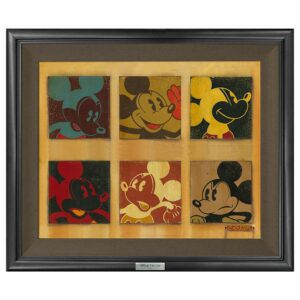 ''6-Up Mickey'' Gicle on Canvas by Trevor Carlton Limited Edition Official shopDisney