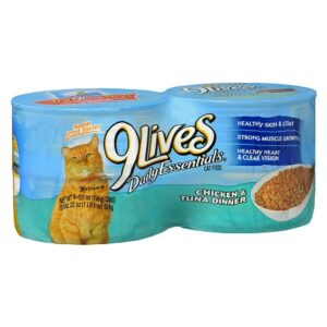 9 Lives Daily Essentials Canned Cat Food - 5.5 Ounces x 4 pack