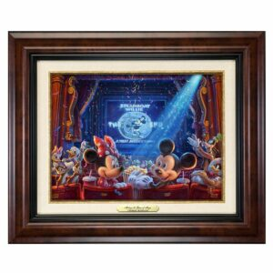 ''90 Years of Mickey'' Framed Canvas Classic by Thomas Kinkade Studios Official shopDisney