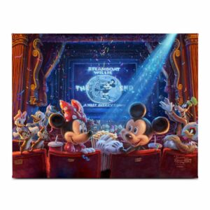 ''90 Years of Mickey'' Gallery Wrapped Canvas by Thomas Kinkade Studios Official shopDisney