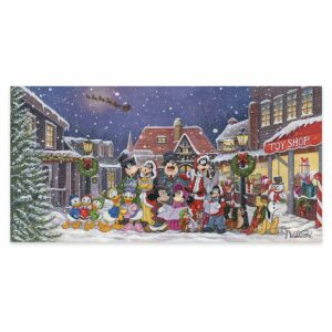 ''A Snowy Christmas Carol'' Gallery Wrapped Canvas by Michelle St.Laurent Limited Edition Official shopDisney