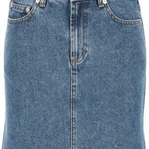 A.P.C. STANDARD DENIM MINI SKIRT 34 Blue Cotton, Denim