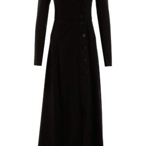 A.W.A.K.E. MODE BUTTONED DRESS 34 Black Cotton