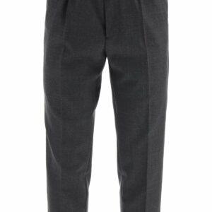 AMI ALEXANDRE MATTIUSSI SPORTS PANTS IN VIRGIN WOOL 40 Grey Wool
