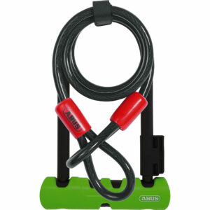 Abus Ultra 410 D-Lock 230mm with Cable - Black-Green