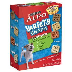 Alpo Variety Snaps Little Bites Dog Treats Beef, Chicken, Liver & Lamb - 32.0 oz