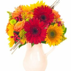 Autumn Celebration Bouquet in a Pitcher - Regular