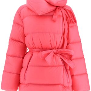BACON PUFFA MIDI DOWN JACKET S Fuchsia Technical