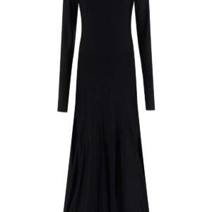 BOTTEGA VENETA LONG JERSEY DRESS M Black
