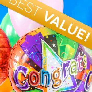 Balloons - Congratulations Florist Designed Balloon Bouquet - Regular