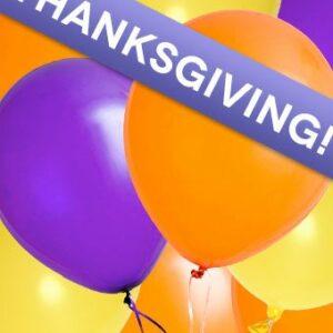 Balloons - Florist Designed Thanksgiving Balloon Bouquet - Regular