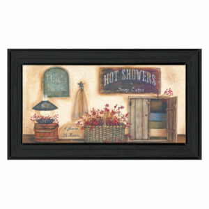 """Bath House"" Collection By Pam Britton, Ready to Hang Framed Print, Bl"