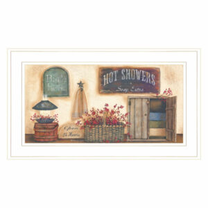 """Bath House"" Collection By Pam Britton, Ready to Hang Framed Print, Wh"