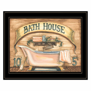 """Bath House"" by Becca Barton, Framed Print, Black Frame"