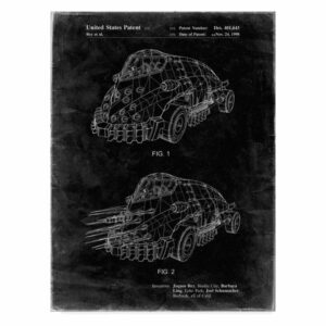 """Batman And Robin Mr Freeze Car"" by Cole Borders, Canvas Art, 32""x24"""