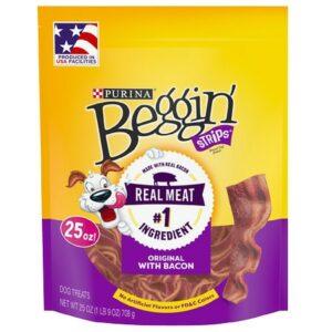 Beggin Strips Dog Treats Original with Bacon - 25.0 Oz