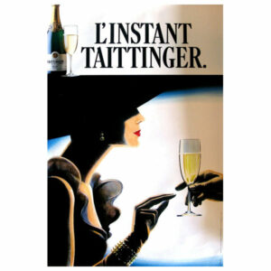 Consigned L'instant Taittinger Authentic Vintage Poster