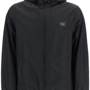 DOLCE & GABBANA NYLON JACKET 46 Black Technical