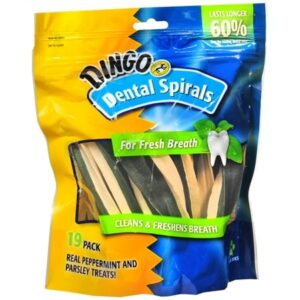 Dingo Dental Spirals for Dogs Peppermint and Parsley - 19.0 ea