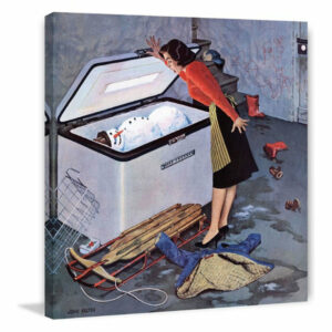 """""""Frosty in the Freezer"""" Painting Print on Canvas by John Falter"""