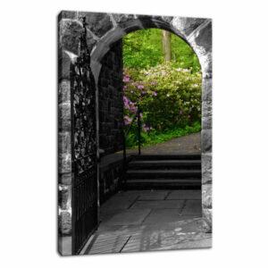"""Garden Entryway"" Floral Nature Photography Fine Art Canvas Wall Art P"