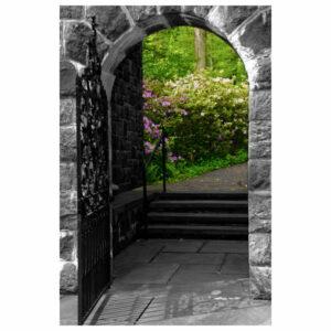 """Garden Entryway"" Nature Photography, Floral Unframed Wall Art Print,"