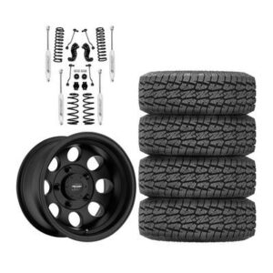 "Genuine Packages Pro Comp 2-3"" Standard Lift Kit with Pro Comp 69 Series Vintage Wheels and Pro Comp A/T Sport Tires - JEEPJLPKG2"