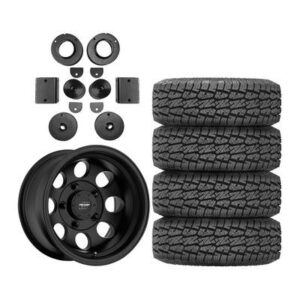 "Genuine Packages Pro Comp 2"" Level Lift Kit with Pro Comp 69 Series Vintage Wheels and Pro Comp A/T Sport Tires - JEEPJLPKG1"