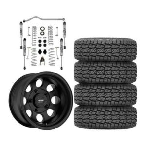 "Genuine Packages Rubicon Express 3.5"" Standard Coil Lift Kit with Pro Comp 69 Series Vintage Wheels and Pro Comp Xtreme MT2 Tires - JEEPJLPKG3"