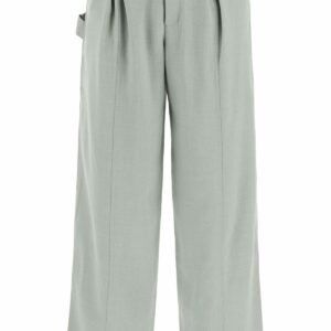 JACQUEMUS CAVOU TROUSERS 46 Green Wool